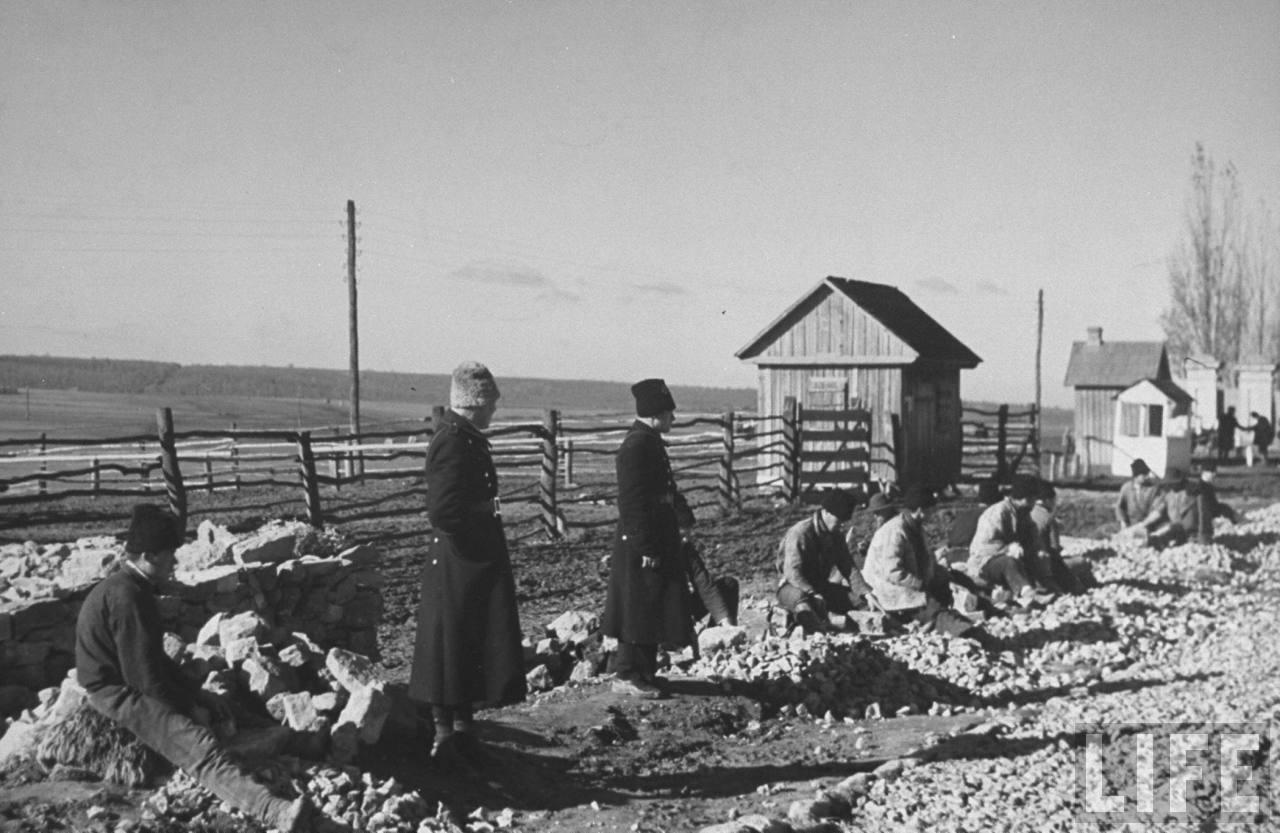 detinuti la spart piatra pentru drumuri LIFE 1934