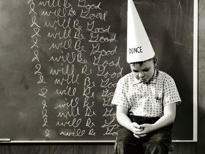 Teaching-Student-in-Dunce-Cap