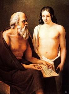 Jose Aparicio Ingalda - Socrate invatand un tanar