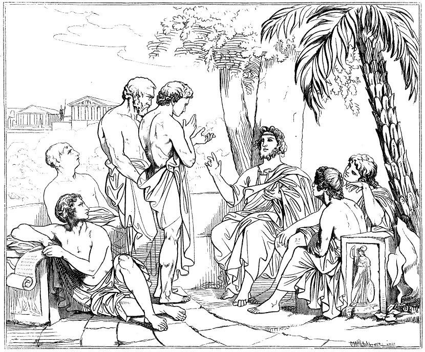 Platon în Academia sa - Carl Johan Wahlbom