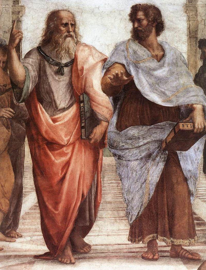 Platon și Aristotel (detaliu) - Rafael